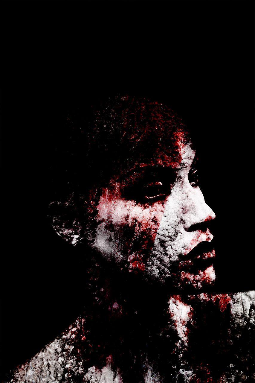 Lisa Brunner - Art Photographer - White and red portrait